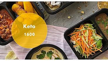 Доставка правильного питания KETO 1600 бесплатно в Москве и МО - заказать рационы готовой еды по выгодным ценам