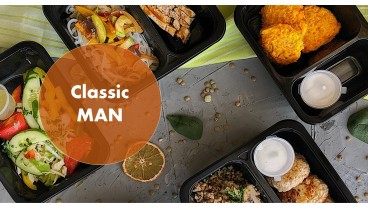 Доставка правильного питания Классика MAN 1500 бесплатно в Москве и МО - заказать рационы готовой еды по выгодным ценам