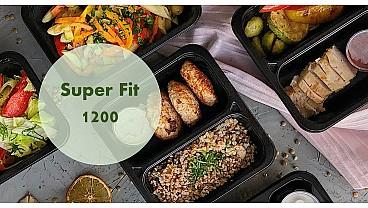 Доставка правильного питания SUPER FIT 1200 бесплатно в Москве и МО - заказать рационы готовой еды по выгодным ценам