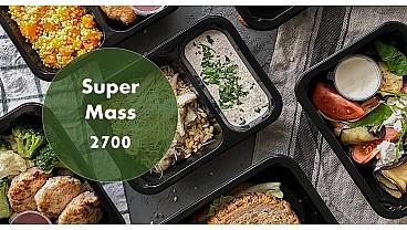 Доставка правильного сбалансированного питания SUPER MASS 2700 бесплатно в Москве и МО - заказать рационы готовой еды по выгодным ценам